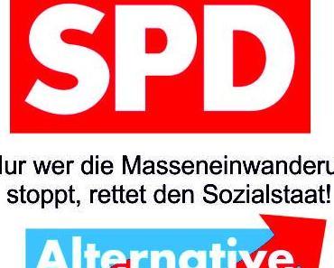 Nur wer die Masseneinwanderung stoppt rettet den Sozialstaat, deshalb stürzt die SPD immer weiter ab