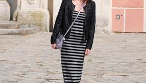 {OOTD} Grey-Black Stripes
