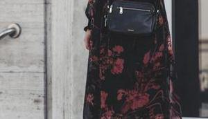 Herbst Outfit Midi-Kleid Fossil Piper Tasche