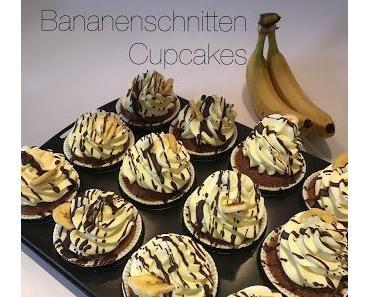 Bananenschnitten Cupcakes - ein Experiment gelingt