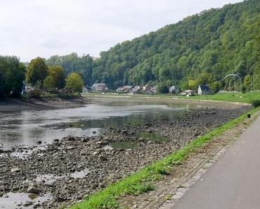 Maasabsenkung und Maassperrung in Belgien