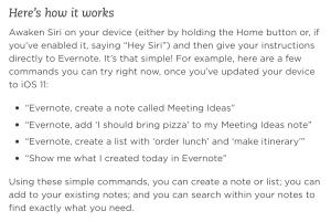 Tipps für Evernote – Siri Evernote Übersetzung prüfen
