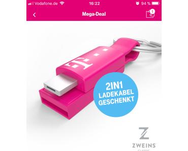 Telekom verschenkt Ladekabel