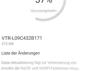 Update VTR-L09C432B171 für das Huawei P10 von 1&1