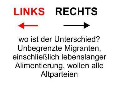 LINKS, RECHTS, wo ist denn der Unterschied? Migranten wollen alle, außer vielleicht die AfD