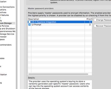 Wie schalte ich die Passwortabfrage in Eclipse Oxygen.1A für die Übertragung nach GitHub ab?