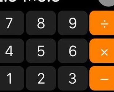 Apples Taschenrechner-App rechnet falsch