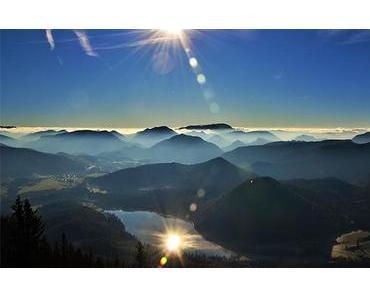 Bild der Woche: Sonne spiegelt sich im Erlaufsee