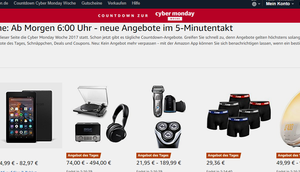 Morgen startet Amazons Cyber Monday Week