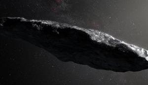 interstellare Asteroid `Oumuamua lang