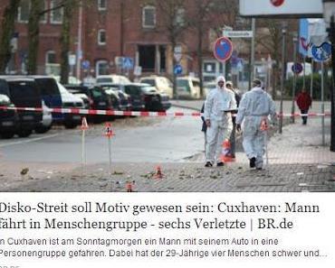 Cuxhaven: Autoanschlag auf Discobesucher