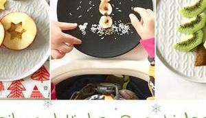 Weihnachtliche Obstsnacks Kinder