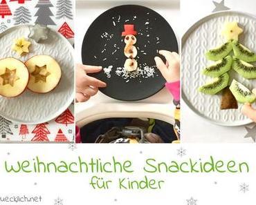 Weihnachtliche Obstsnacks für Kinder