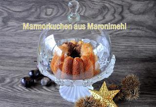 Mein Marmorkuchen aus Kastanienmehl