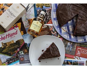 Erinnerungen an einen Schottland Urlaub: saftiger Schoko-Whiskey-Kuchen