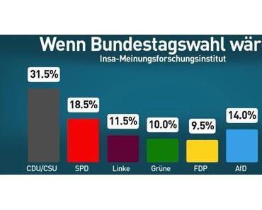 Insa-Umfrage: SPD sackt auf 18,5 Prozent ab
