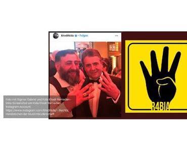 Bundesaußenminister machte nicht das Symol der Muslimbruderschaft