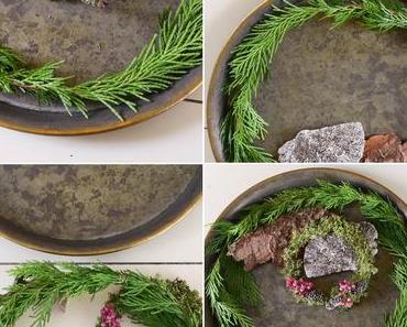 Natürliche Deko-Schale für den Tisch