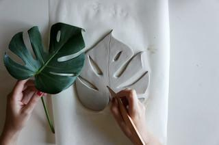 DIY: Eine Schale in cooler Monstera-Form