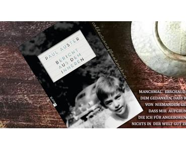 """""""Bericht aus dem Inneren""""Die Kindheit eines Autors"""