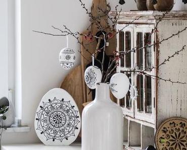 DIY Boho Ostereier Mandala und Fliesenkreuz