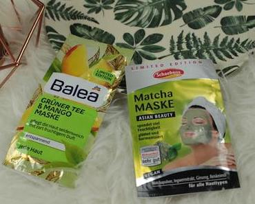 Review: Schaebens Matcha Maske vs Balea Grüner Tee und Mango Maske Limited Edition Vergleich