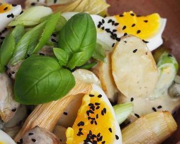 Kartoffelsalat mit geröstetem Lauch & Selbstgemachter Mayonnaise / Potato Salad with Roasted Leeks & Homemade Mayonnaise (Deutsch & English)
