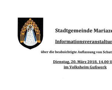 Informationsveranstaltung Mariazell – Beabsichtigte Auflassung von Schutzwegen