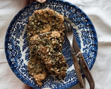 Rezept: Surschnitzel mit Kürbiskernpanade // Traditional austrian schnitzel recipe with pumpkin seeds