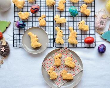 Osterkekse mit Vanillecreme – Hasen, Küken und Enten