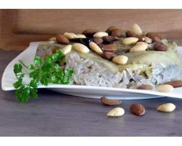 Rezept: Ris macluba mit Laban b'khiar- syrisch vegan