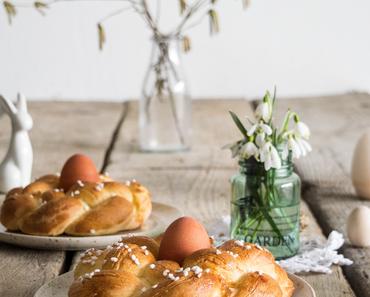 #Omasklassiker: süße Osternestchen // Braided Easter egg bread