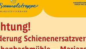 Mariazellerbahn Streckensperre Laubenbachmühle Mariazell Schienenersatzverkehrsinfo