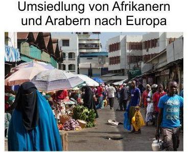 Umsiedlung von zusätzlich 50.000 Afrikanern und Arabern in die EU, Merkel-Deutschland bekommt erst mal 10.000 und die Anderen dann später