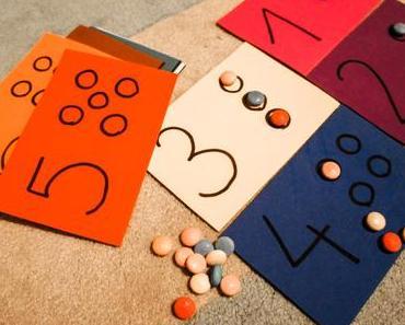 Zahlen lernen mit Legekarten