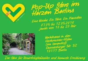 Un-vertraeglich.de – Der Pop Up Store vom 07.05 bis 12.05.18 in Berlin mit glutenfreien Produkten