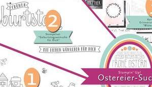 Gewinner unserer diesjährigen Stampin' Ostereiersuche