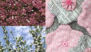 Rosa helle Blüten oder Genäht echt