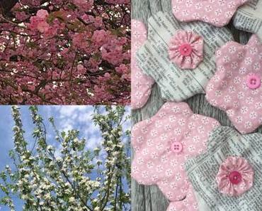 Rosa und helle Blüten – oder – Genäht und in echt