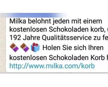 WhatsApp-Kettenbrief verspricht Schokolade