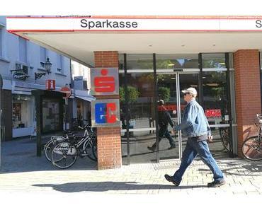 Die Sparkassenfiliale am Markt in Lüdinghausen