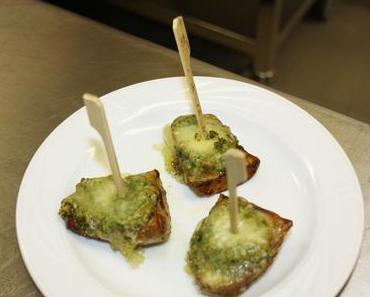 Blechkartoffeln mit Walnuss-Pesto (lacto-vegetarisch)