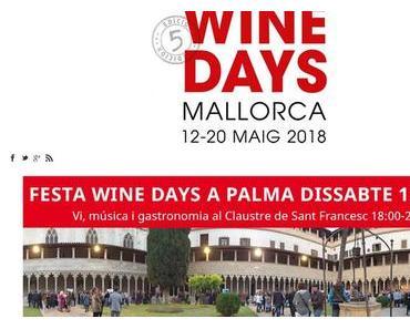 """5. Ausgabe der """"Mallorca Wine Days"""""""