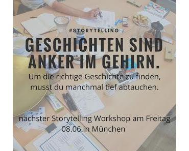 Geschichten sind Anker im Gehirn -  Storytelling Workshop in München
