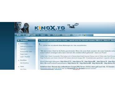 Bewegung bei dem von Vodafone gesperrten Portal Kinox.to