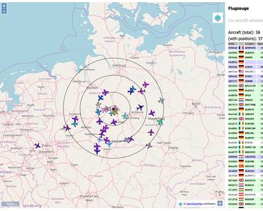 DUMP1090: Über 50 Flugzeug-Transponder mit Raspberry Pi empfangen