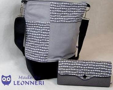 Portemonnaie und Tasche im gleichen Look