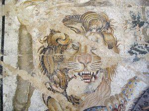 Sohn, Vater und der gemalte Löwe