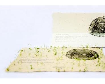 Grüner geht's nicht: Graspapier, Samenpapier und Postgärten