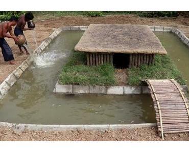 Survival-Duo baut ein Pool um die Hütte